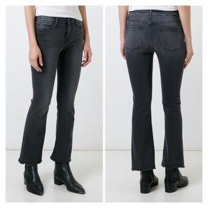 Frame Denim Le Crop Mini Jeans in faded black/grey